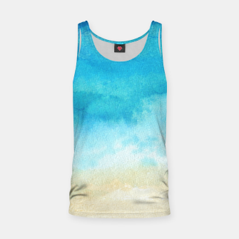 Thumbnail image of Ocean View. Watercolor Sea  landscape. Hand drawn illustration  Tank Top, Live Heroes