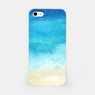Thumbnail image of Ocean View. Watercolor Sea  landscape. Hand drawn illustration  iPhone Case, Live Heroes