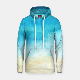 Thumbnail image of Ocean View. Watercolor Sea  landscape. Hand drawn illustration  Cotton hoodie, Live Heroes