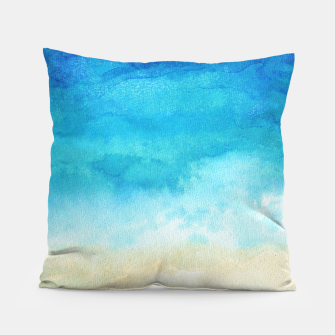 Thumbnail image of Ocean View. Watercolor Sea  landscape. Hand drawn illustration  Pillow, Live Heroes