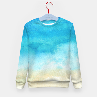 Thumbnail image of Ocean View. Watercolor Sea  landscape. Hand drawn illustration  Kid's sweater, Live Heroes