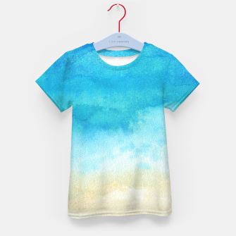 Thumbnail image of Ocean View. Watercolor Sea  landscape. Hand drawn illustration  Kid's t-shirt, Live Heroes