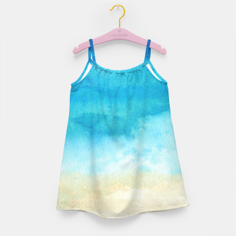 Thumbnail image of Ocean View. Watercolor Sea  landscape. Hand drawn illustration  Girl's dress, Live Heroes