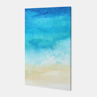 Thumbnail image of Ocean View. Watercolor Sea  landscape. Hand drawn illustration  Canvas, Live Heroes