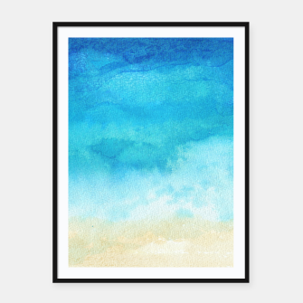 Thumbnail image of Ocean View. Watercolor Sea  landscape. Hand drawn illustration  Framed poster, Live Heroes
