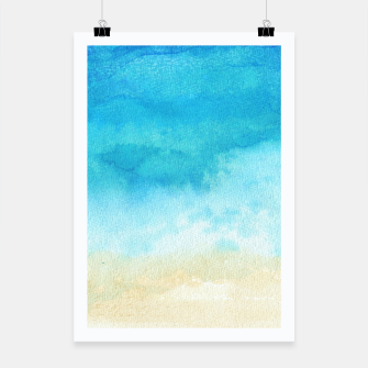Thumbnail image of Ocean View. Watercolor Sea  landscape. Hand drawn illustration  Poster, Live Heroes
