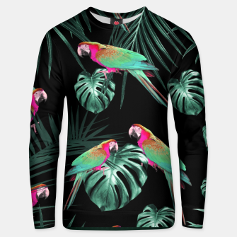 Miniature de image de Parrots in the Tropical Jungle Night #1 #tropical #decor #art Baumwoll sweatshirt, Live Heroes