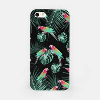 Thumbnail image of Parrots in the Tropical Jungle Night #1 #tropical #decor #art iPhone-Hülle, Live Heroes