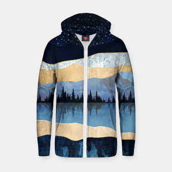 Thumbnail image of Midnight Lake Cotton zip up hoodie, Live Heroes