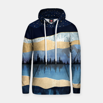 Thumbnail image of Midnight Lake Cotton hoodie, Live Heroes
