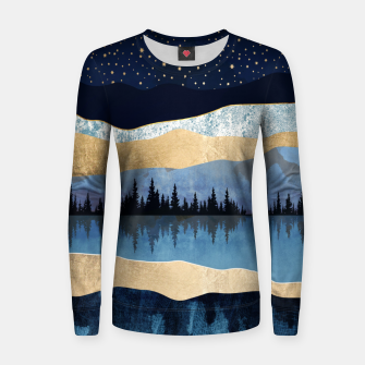 Thumbnail image of Midnight Lake Woman cotton sweater, Live Heroes