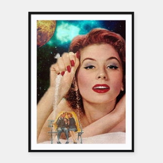 Thumbnail image of Redhead Goddess Digital Collage Framed poster, Live Heroes