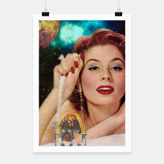 Thumbnail image of Redhead Goddess Digital Collage Poster, Live Heroes