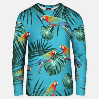 Thumbnail image of Parrots in the Tropical Jungle #1 #tropical #decor #art Baumwoll sweatshirt, Live Heroes