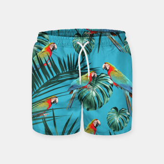 Miniaturka Parrots in the Tropical Jungle #1 #tropical #decor #art Badeshorts, Live Heroes