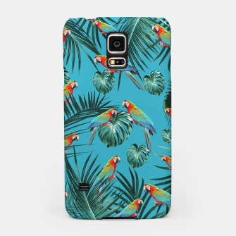 Miniatur Parrots in the Tropical Jungle #1 #tropical #decor #art Handyhülle für Samsung, Live Heroes