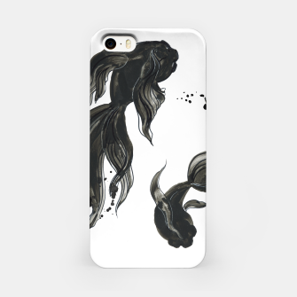 Thumbnail image of Koi fishes in Japanese painting style. Traditional art iPhone Case, Live Heroes