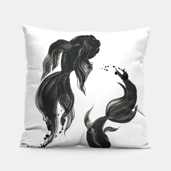 Miniaturka Koi fishes in Japanese painting style. Traditional art Pillow, Live Heroes