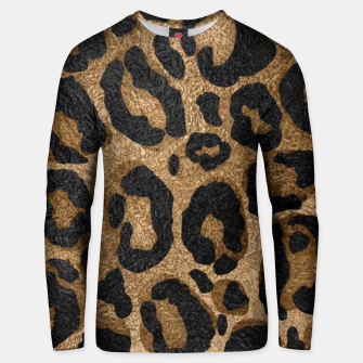 Miniatur Golden and Black glitter  Leopard/ Jaguar print Cotton sweater, Live Heroes