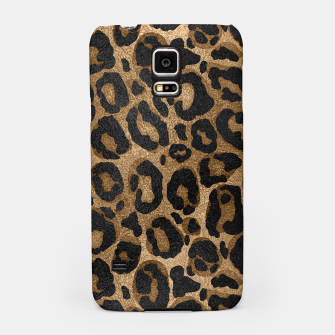 Miniatur Golden and Black glitter  Leopard/ Jaguar print Samsung Case, Live Heroes