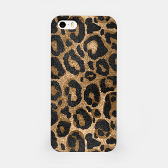 Miniatur Golden and Black glitter  Leopard/ Jaguar print iPhone Case, Live Heroes