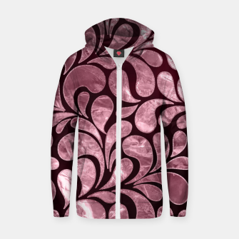 Thumbnail image of Rose Quartz and glitter swirl pattern Cotton zip up hoodie, Live Heroes