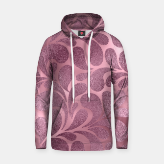 Thumbnail image of Rose Quartz and glitter swirl pattern Cotton hoodie, Live Heroes
