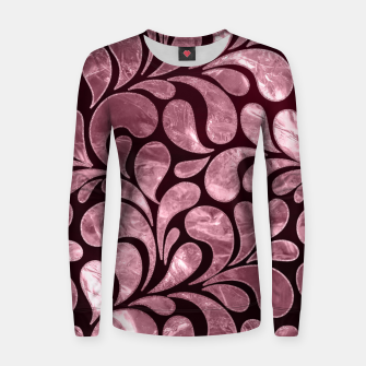 Thumbnail image of Rose Quartz and glitter swirl pattern Woman cotton sweater, Live Heroes