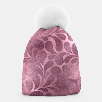 Thumbnail image of Rose Quartz and glitter swirl pattern Beanie, Live Heroes