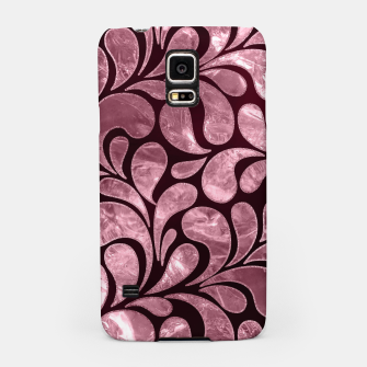 Thumbnail image of Rose Quartz and glitter swirl pattern Samsung Case, Live Heroes