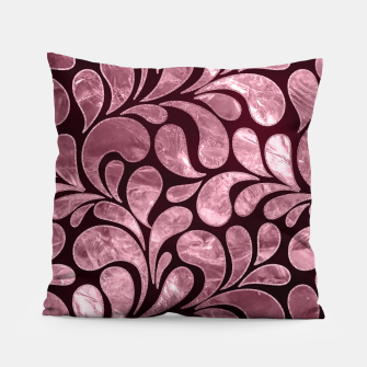 Thumbnail image of Rose Quartz and glitter swirl pattern Pillow, Live Heroes