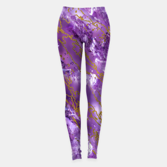 Thumbnail image of Amethyst Quartz and gold texture Leggings, Live Heroes