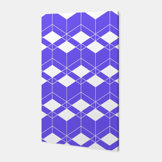 Miniaturka Abstract geometric pattern - blue and white. Canvas, Live Heroes