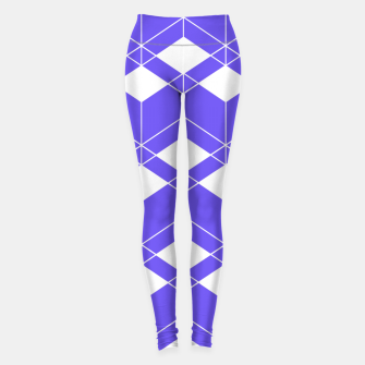 Miniaturka Abstract geometric pattern - blue and white. Leggings, Live Heroes