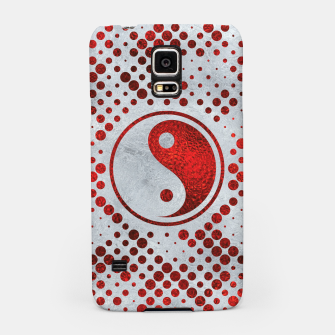 Thumbnail image of Beautiful Red Metallic Yin yang on mother of pearl  Samsung Case, Live Heroes