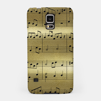 Miniaturka Abstract Music notes on golden background Samsung Case, Live Heroes