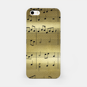 Miniaturka Abstract Music notes on golden background iPhone Case, Live Heroes