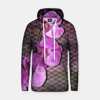 Thumbnail image of Gentle Purple Flower brunch on grunge rust Cotton hoodie, Live Heroes
