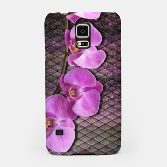 Thumbnail image of Gentle Purple Flower brunch on grunge rust Samsung Case, Live Heroes