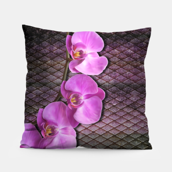 Thumbnail image of Gentle Purple Flower brunch on grunge rust Pillow, Live Heroes
