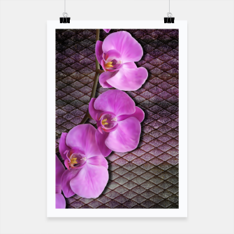 Thumbnail image of Gentle Purple Flower brunch on grunge rust Poster, Live Heroes