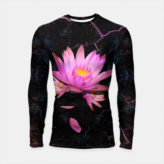 Thumbnail image of Gentle Lotus on grunge metal background Longsleeve rashguard , Live Heroes