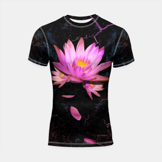 Thumbnail image of Gentle Lotus on grunge metal background Shortsleeve rashguard, Live Heroes