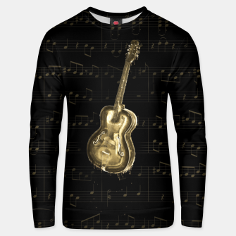 Dripping Gold  Acoustic Guitar on notes Cotton sweater thumbnail image