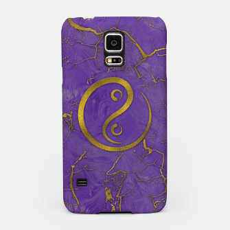 Thumbnail image of Golden Embossed Yin Yang symbol  on purple Samsung Case, Live Heroes