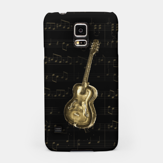 Dripping Gold  Acoustic Guitar on notes Samsung Case thumbnail image