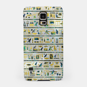 Gold and Abalone Egyptian hieroglyphs on pearl  Samsung Case thumbnail image
