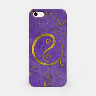 Thumbnail image of Golden Embossed Yin Yang symbol  on purple iPhone Case, Live Heroes