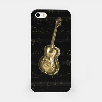 Dripping Gold  Acoustic Guitar on notes iPhone Case thumbnail image