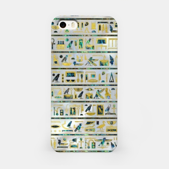 Gold and Abalone Egyptian hieroglyphs on pearl  iPhone Case thumbnail image